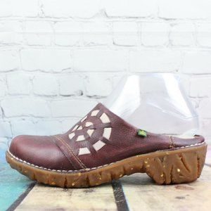 EL NATURALISTA Iggdrasil Clogs Shoes Size 37 US 7